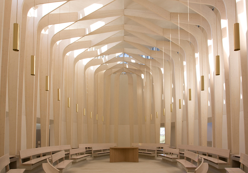 Bishop Edward King Chapel in Oxford, London by   Niall McLaughlin Architects  .