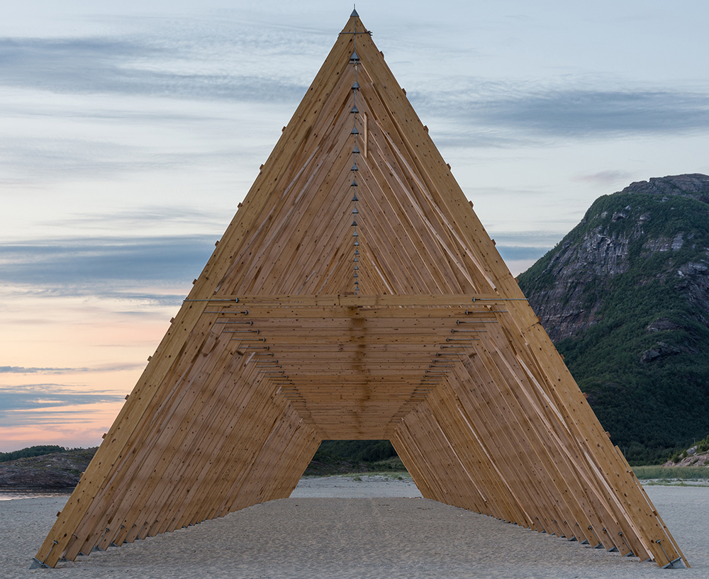 SALT Arctic Journey Fish Rack Art Installation by Rintala Eggertsson Architects Norway