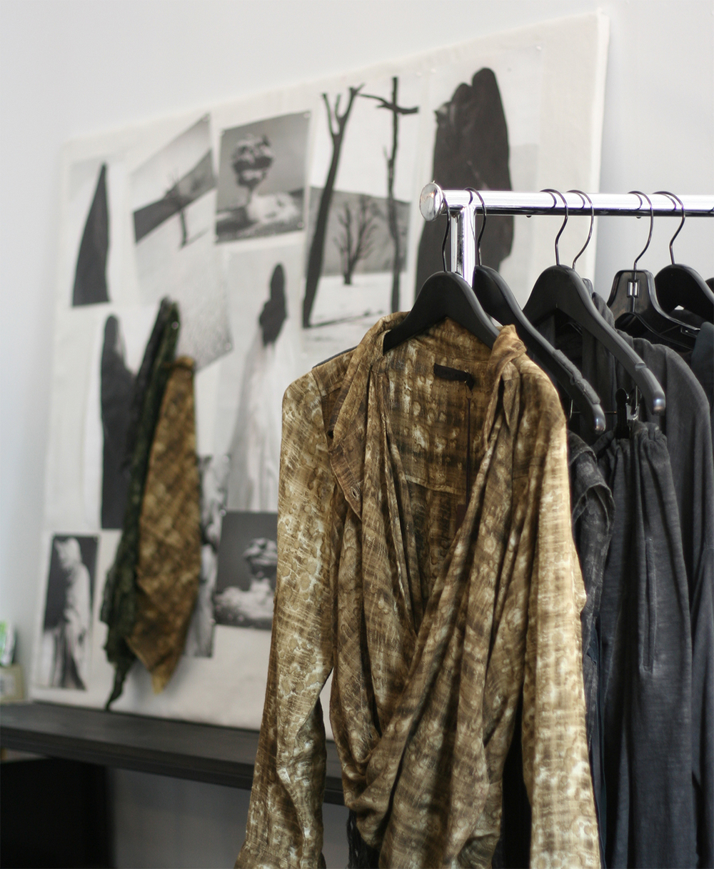 Inside the studio of Nicholas K for New York Fashion Week SS15