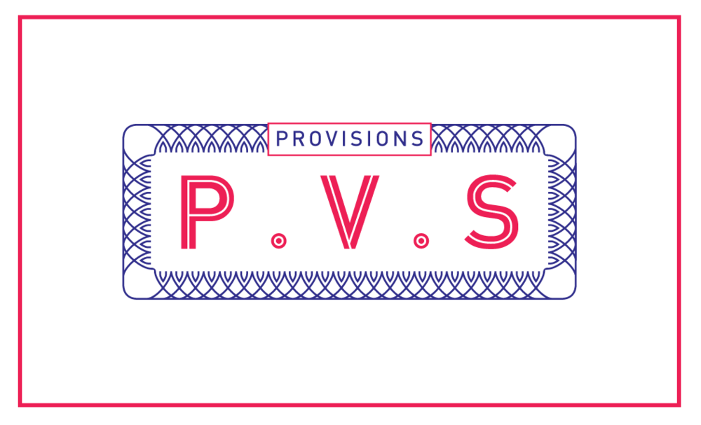 Provisions Branding by The Strangely Good