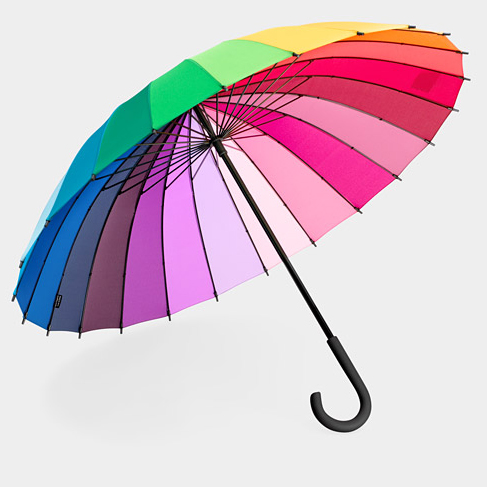 MoMA Store, Color Wheel Umbrella $48