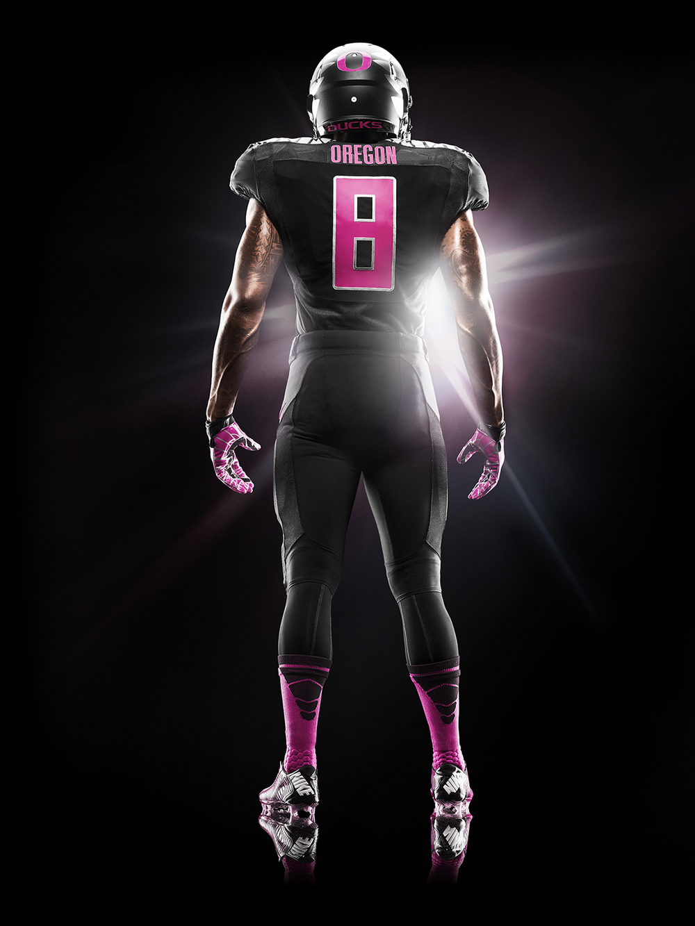 Nike and University of Oregon Ducks support Breast Cancer Awareness with 2014 Football Uniform.