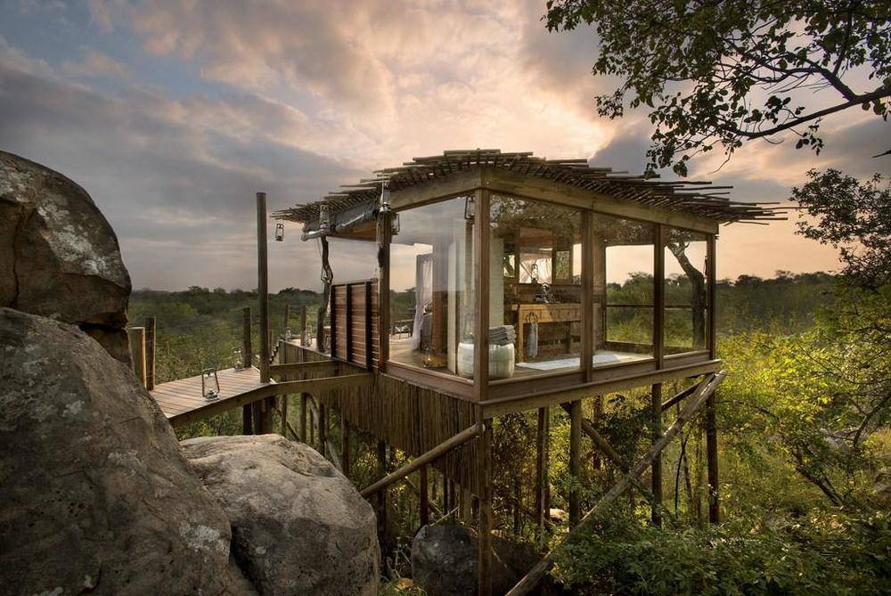 Glass Suite at  Lion Sands Game Reserve
