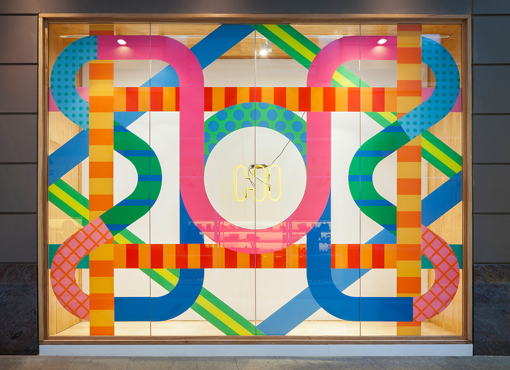 'Meet Me In The Middle', Craig & Karl, 2014. A window installation for the relaunch of Incu Clothing's flagship store in Sydney, Australia. Photography by Katherine Lu.