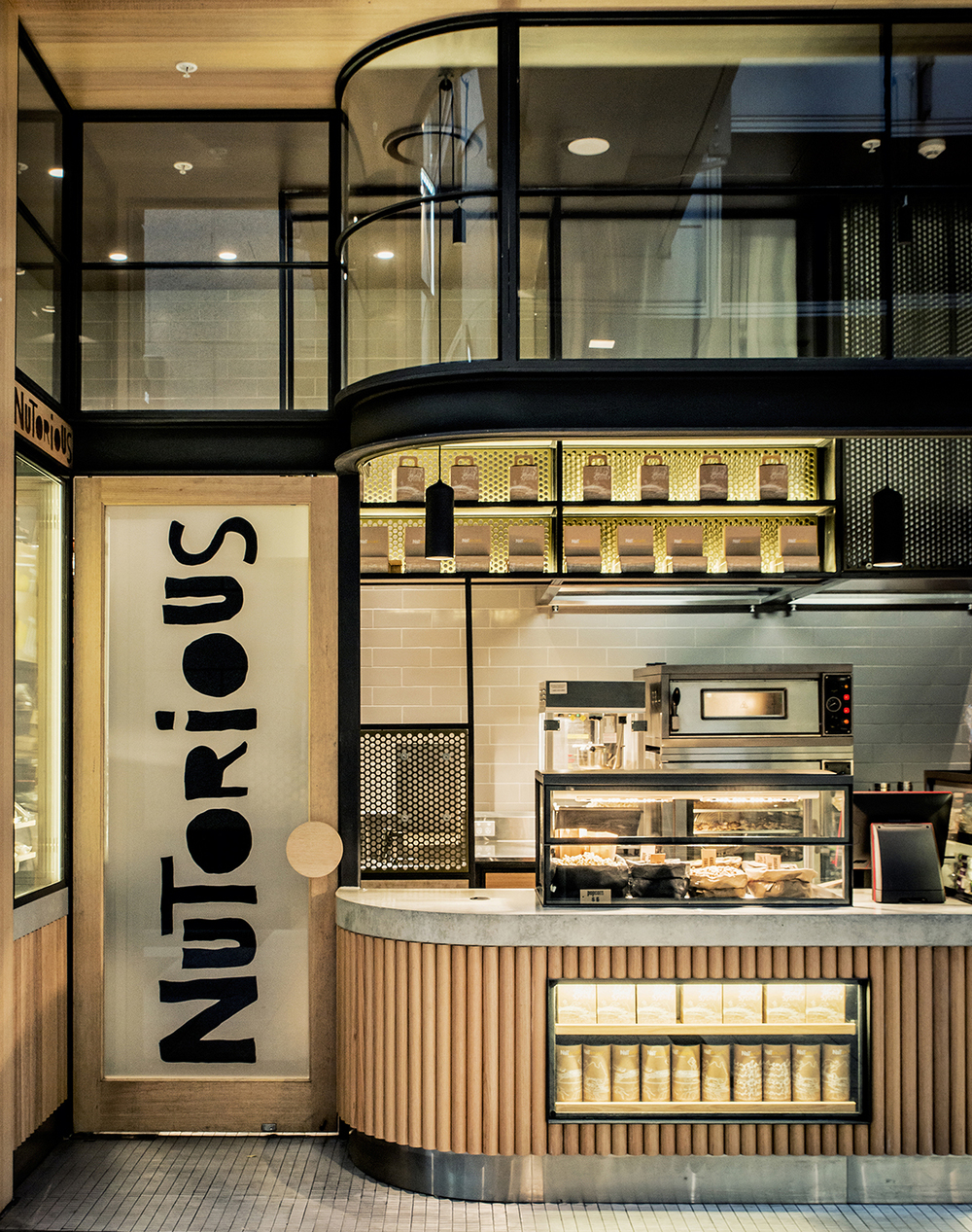 Nutorious shop in Sydney designed by Luchetti Krelle