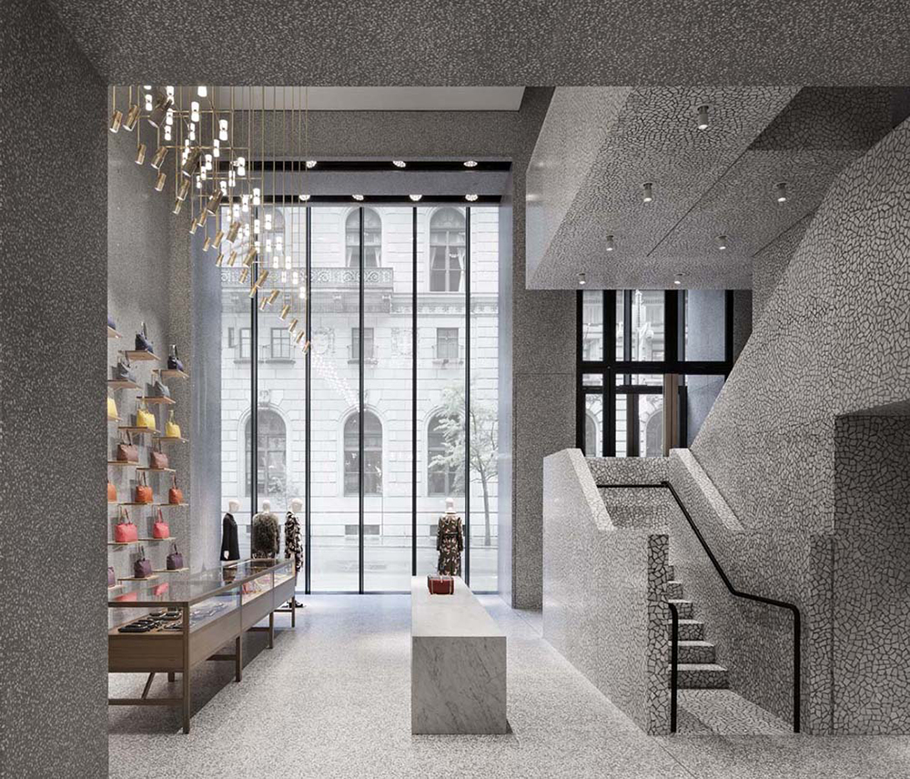 Castle couture david chipperfield designs valentino 39 s nyc for Interior design building nyc