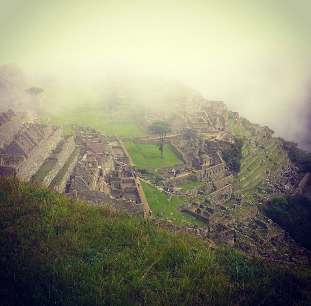 Machu Picchu fog photographed by Meg Vitacco