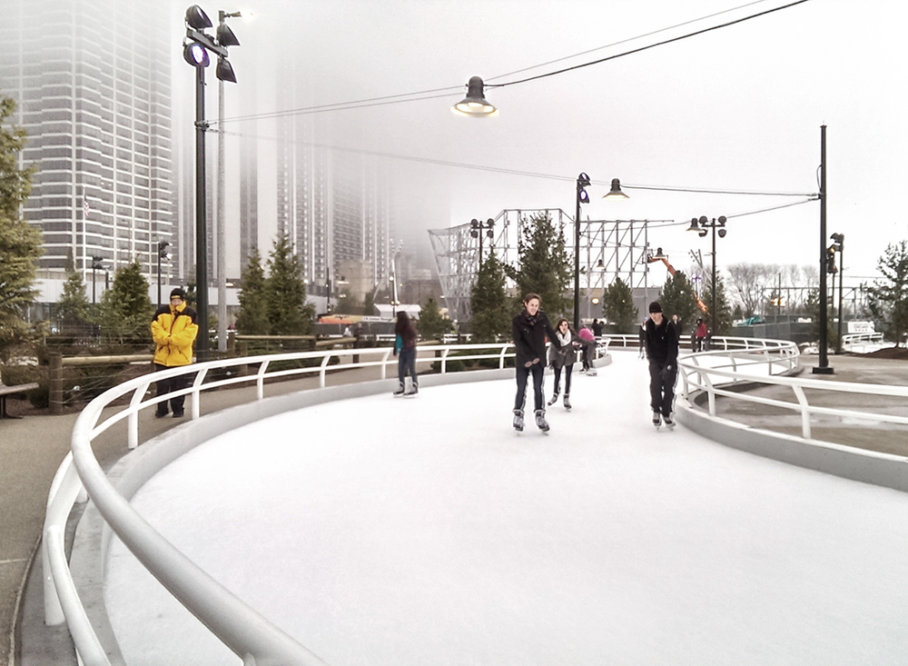 Ice Skating Ribbon Trail opens in Chicago at Maggie Daley Park