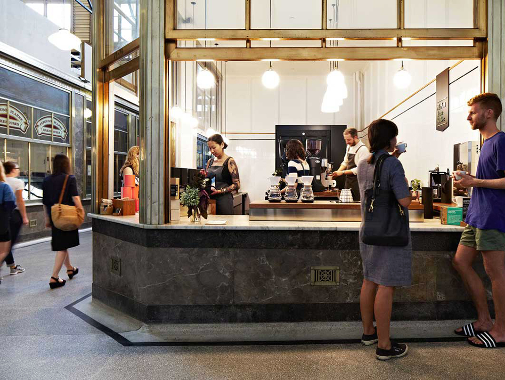Buzzing down under hearth designs market lane coffee shop for Melbourne space design