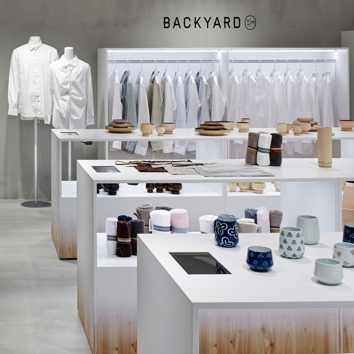 Backyard Store by Nendo