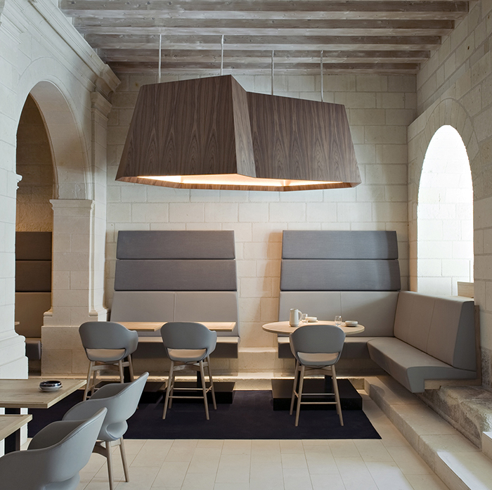 Le Restaurant at Fontevraud Hôtel by Patrick Jouin