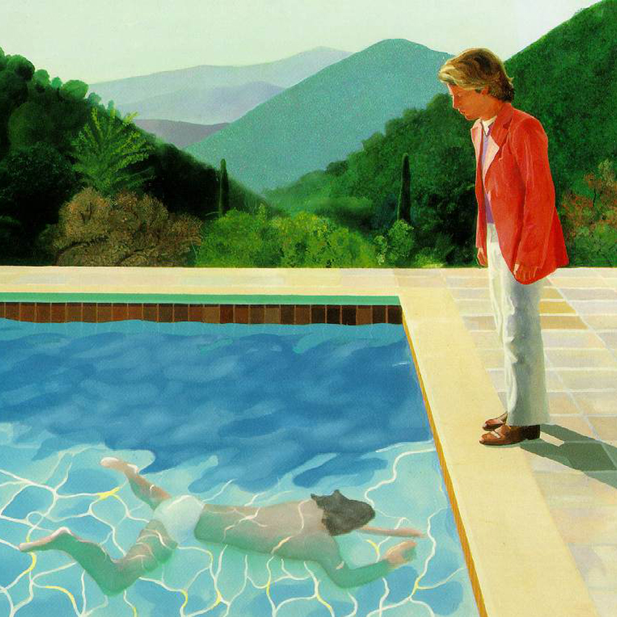 Portrait of an Artist by David Hockney, 1972 acrylic on canvas