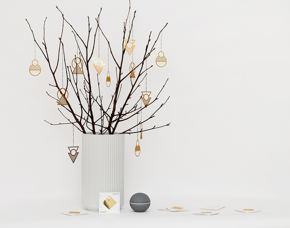 Modern Christmas ornaments by Danish designer Kristina Krogh