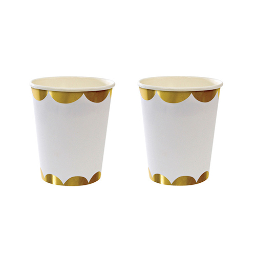 Gold Scallop Paper Cups  $4