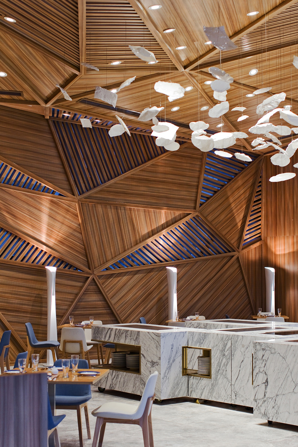 a portrait of chengdu  panorama designs yue restaurant