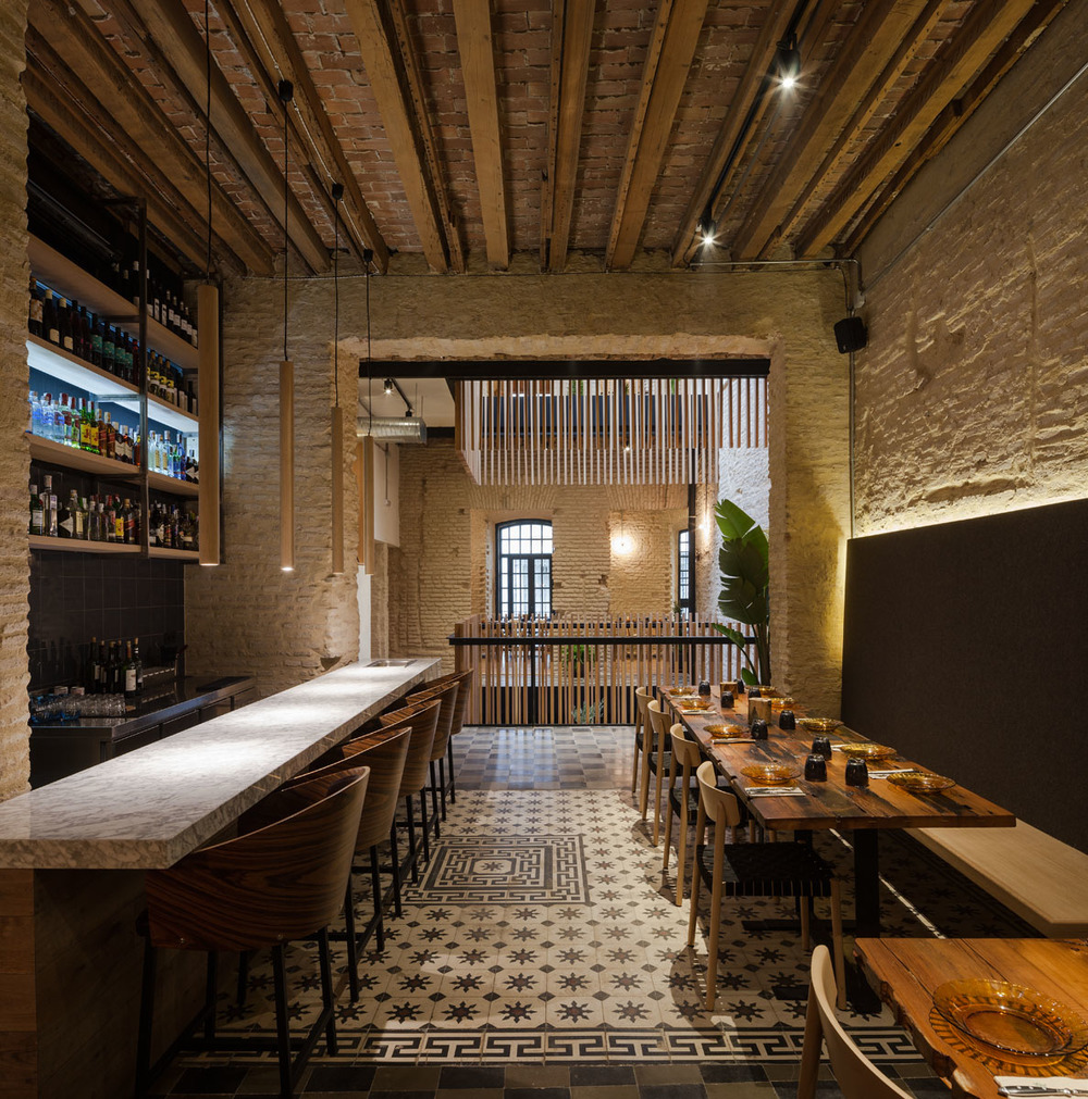 Donaire Arquitectos restores an old house into a new restaurant Rehabs Old House New Restaurant
