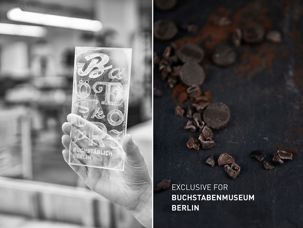 Typographic Chocolate For The Museum of Letters Berlin