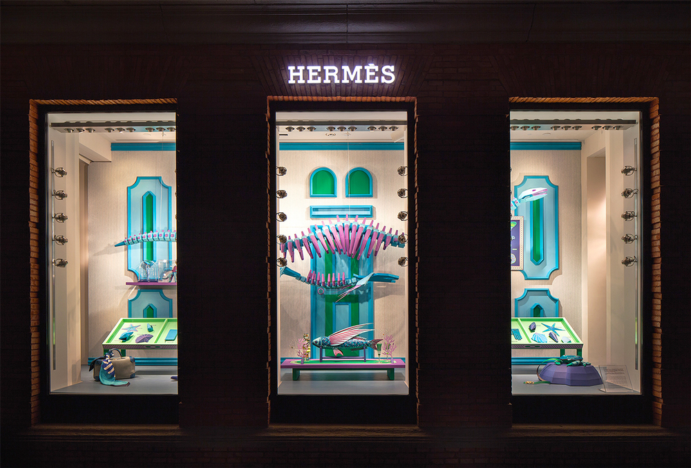 Zim & Zou Paper Windows for Hermès Maison Shanghai