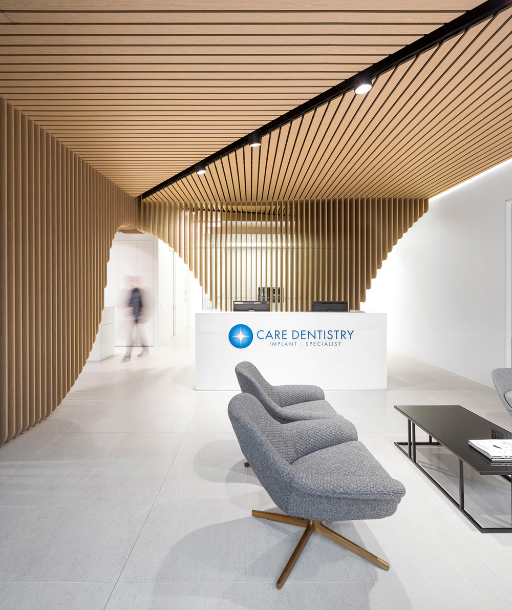Care Implant Dentistry in Sydney by Pedra Silva Architects. Modern dental clinic