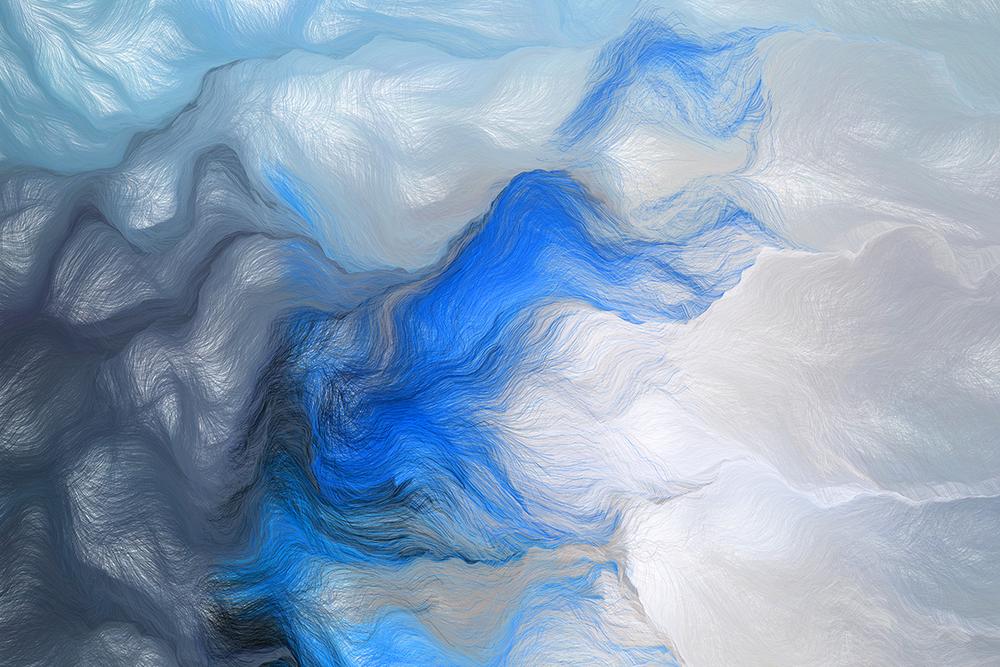 Schwarm III, Blau, Andreas Nicolas Fischer, 90 × 60 cm; 2013
