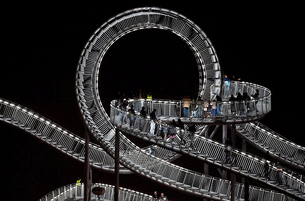 Tiger & Turtle - Magic Mountain Walking Roller Coaster by Heike Mutter and Ulrich Genth, Duisburg, Germany