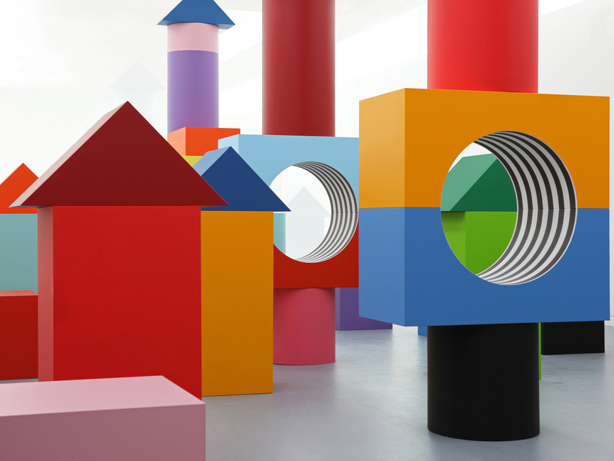Child's Play: Daniel Buren's Blocky Art Installation Debuts at Museo Madre