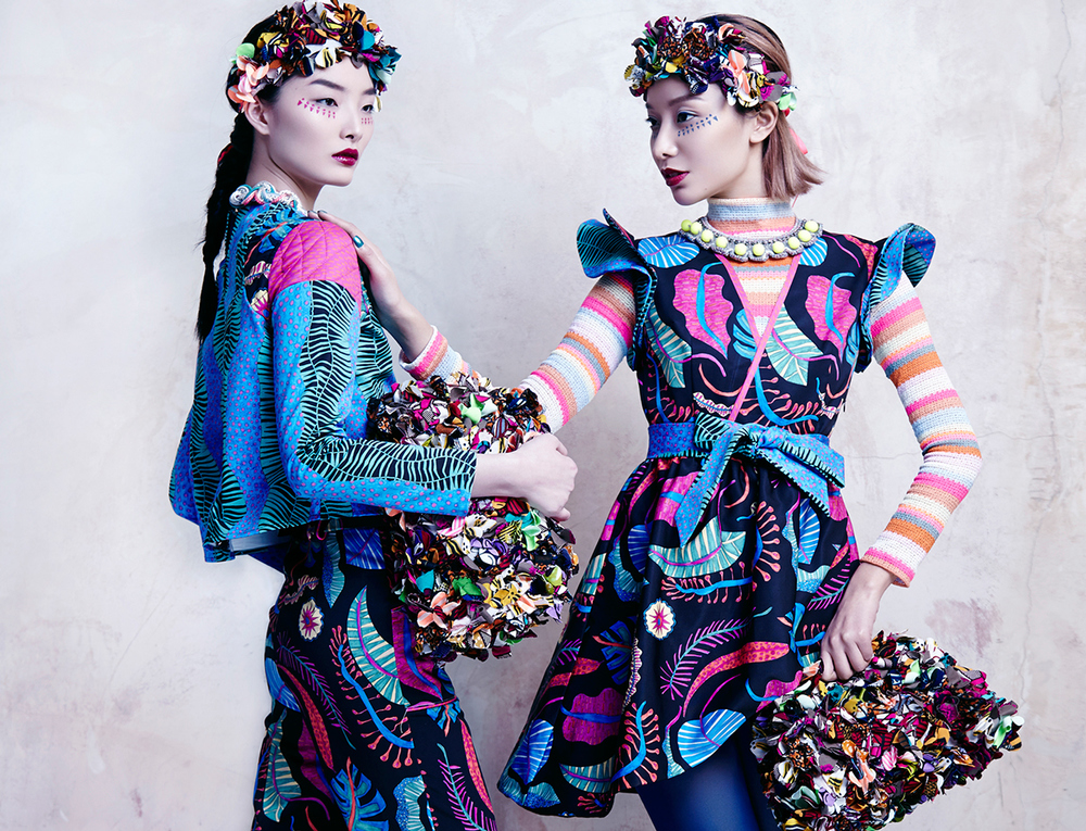 Natacha Duarte creates exotic prints for Celiab's AW15 collection