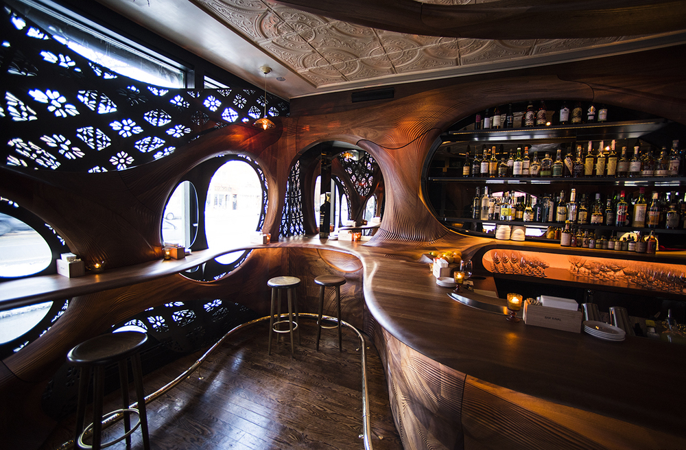 pintxo partisans revisits art nouveau with bar raval knstrct