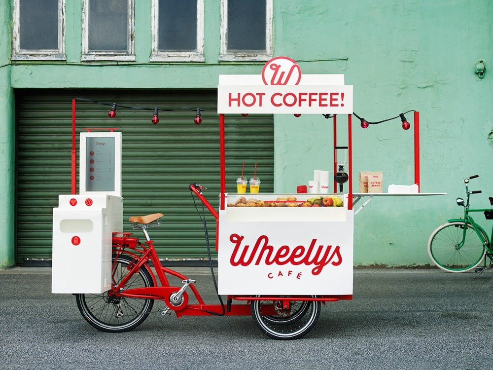 Wheelys Cafe's  are bicycle carts that provide coffee for a mobile generation on the move.