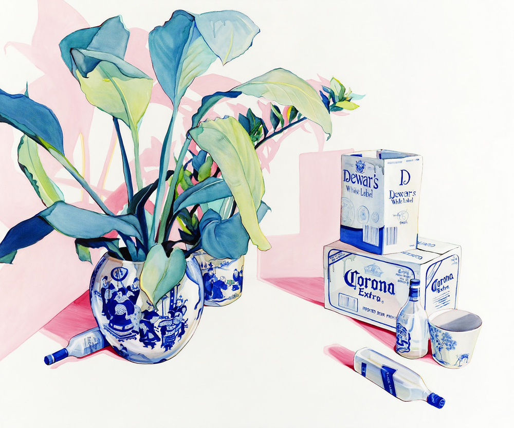 Artist Julian Meagher creates watercolor effect with oil paintings