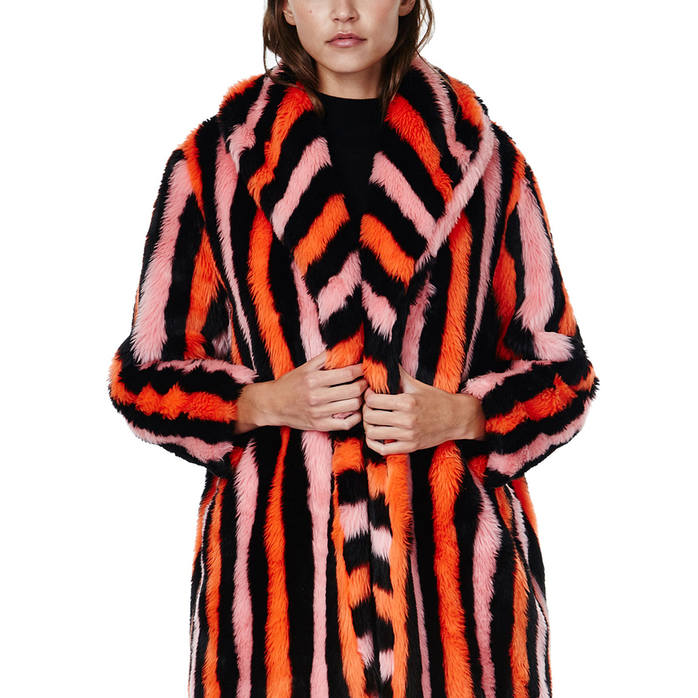 Pink Stripe Portia Coat by House of Hackney