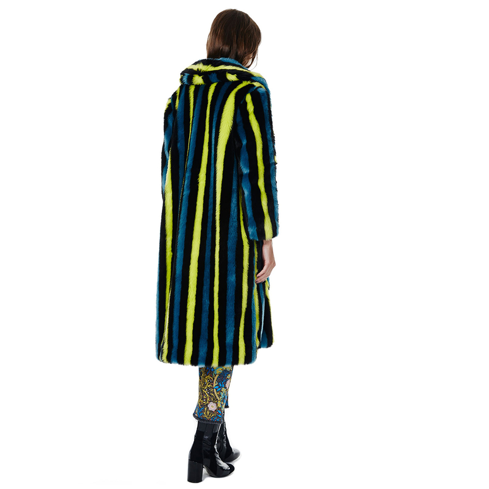 Green Stripe Portia Coat by House of Hackney
