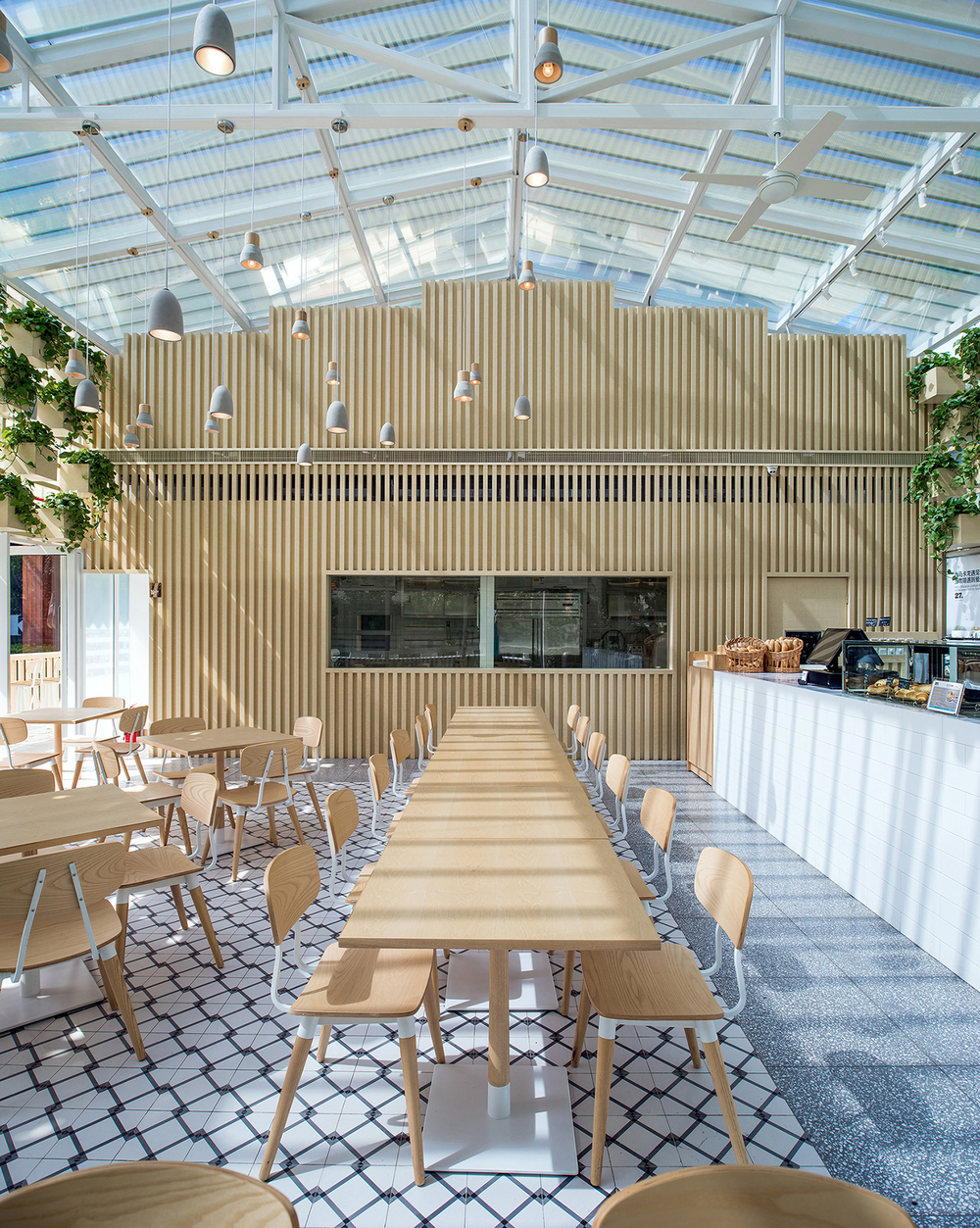 Four O Nine Converts Greenhouse Into Coffee Shop In Beijing