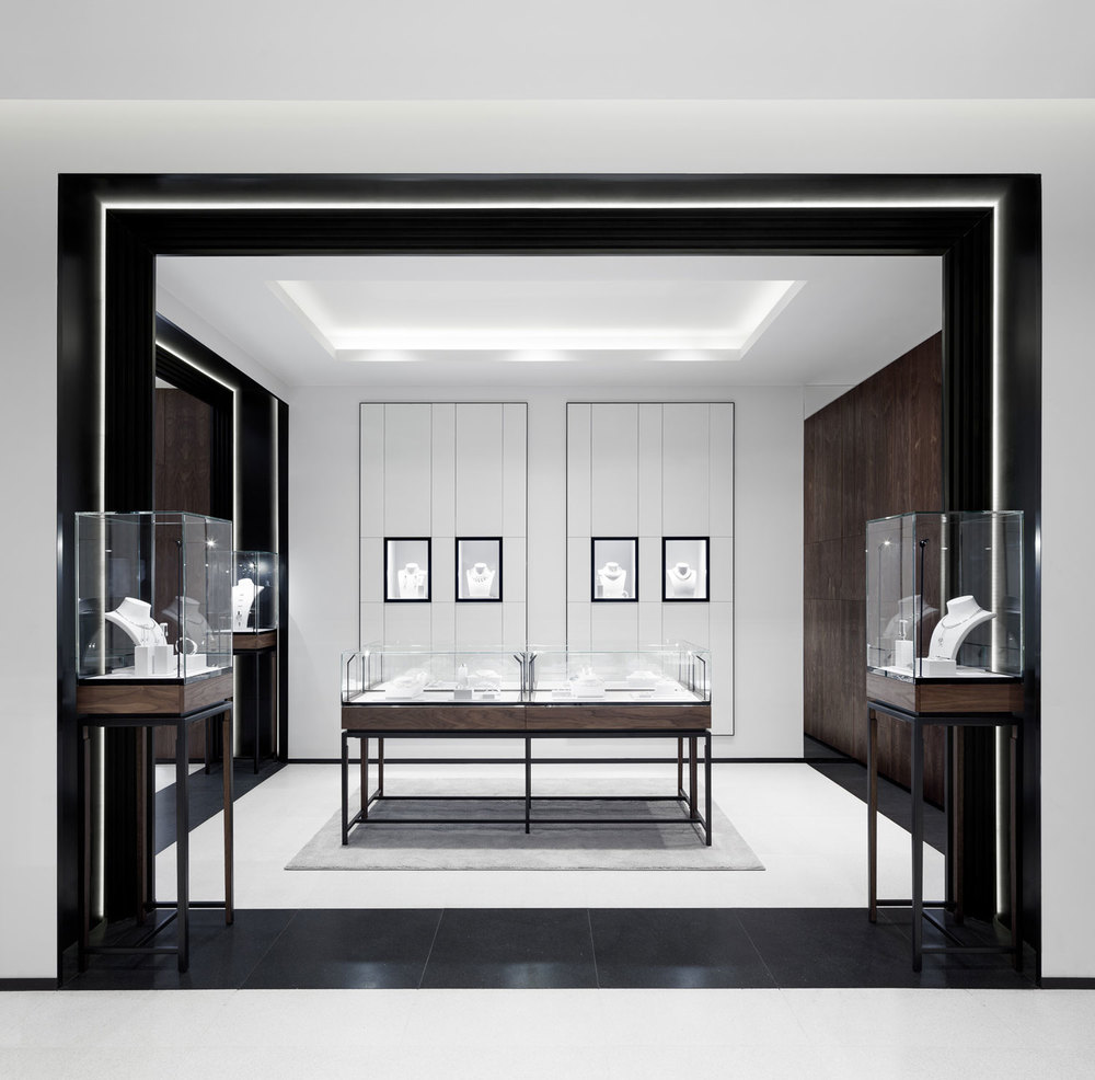 David thulstrup designs symmetrical space for georg jensen for High design jewelry nyc