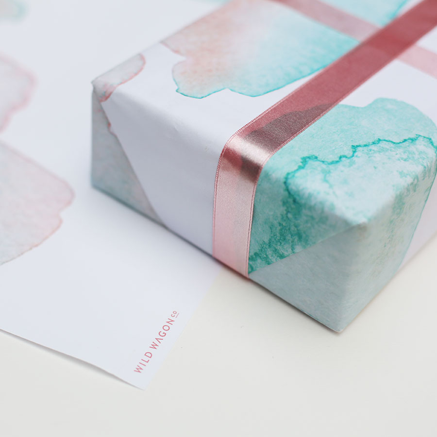 Watercolor artistic wrapping paper