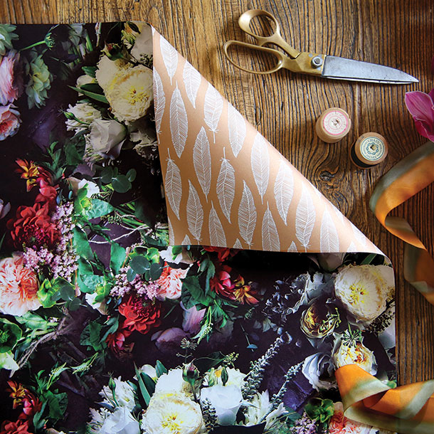 Double sided floral wrapping paper