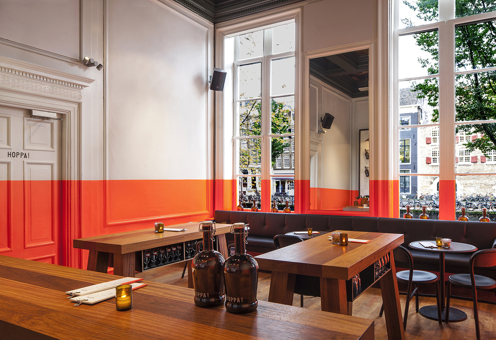 Concrete Studio juxtapose old and new at Amsterdam's HOPPA! Brewery