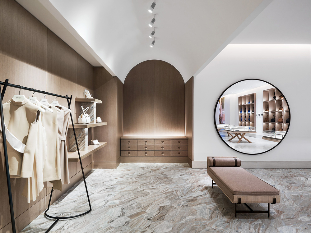 The shape of things yabu pushelberg designs ports 1961 39 s - Interior design for retail stores ...