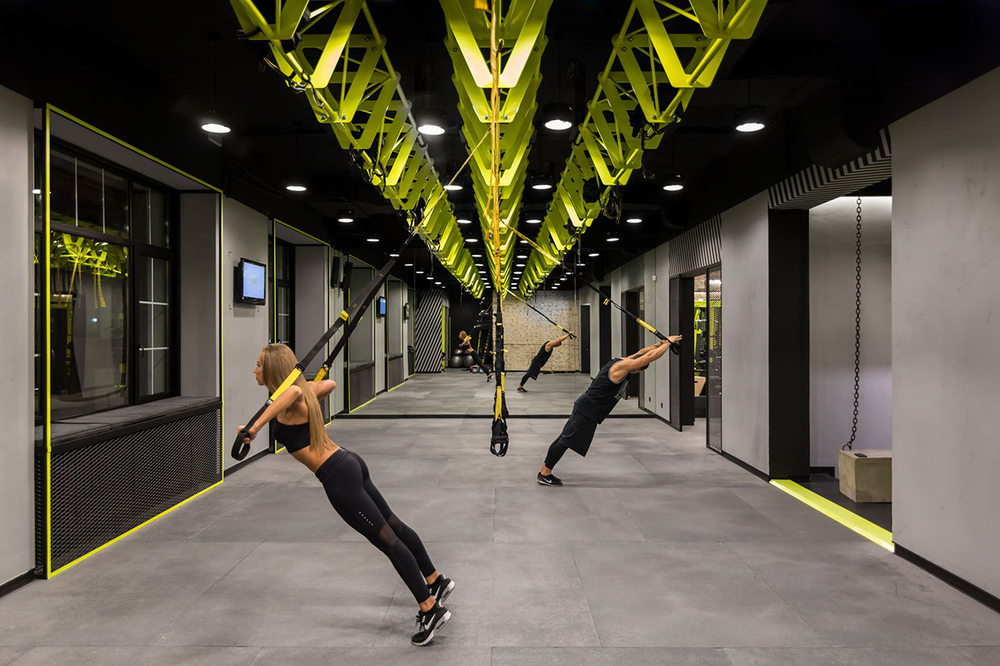 Gym spiration soesthetic group creates high impact gym in for Design in a box interior design