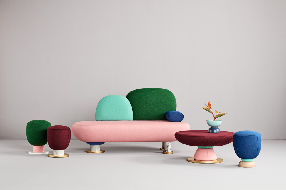 "Masquespacio Goes Memphis with ""Toadstool"" furniture collection for Missana"
