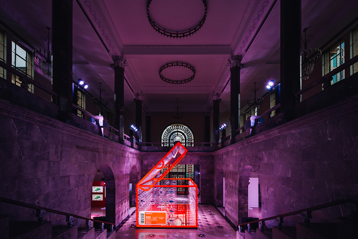 Nike celebrates Air Max Day in Shanghai with shoe box pop up designed by Rosie Lee