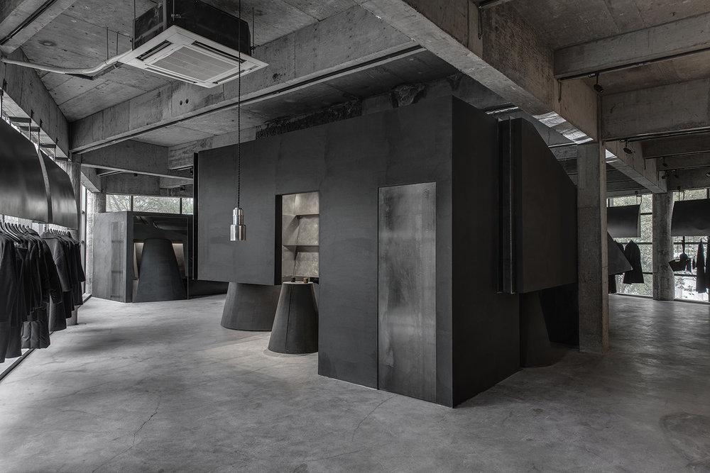 Modern concrete retail concept