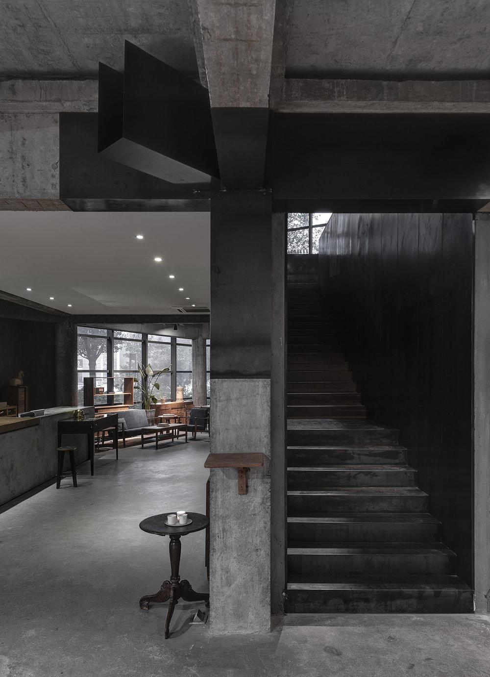 Modern concrete retail store
