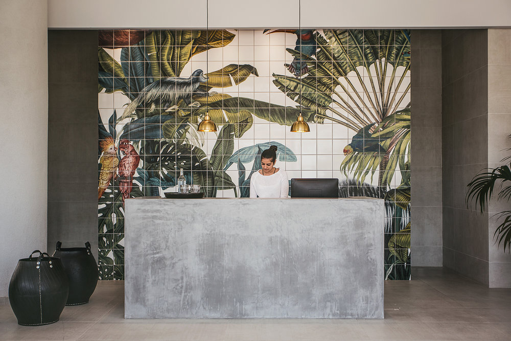 Tropical tile illustration Casa Cook
