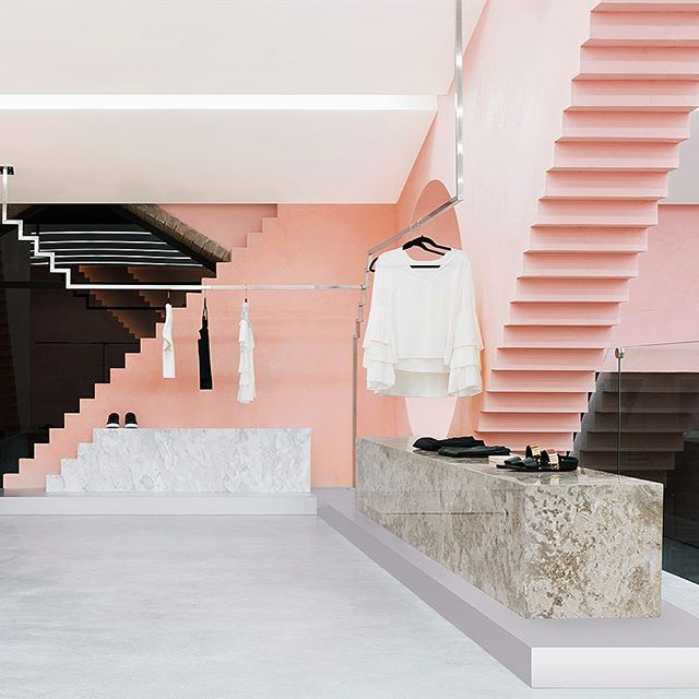 Annnnnnnagrama steps it up with design of Novelty's #NYC outpost #pink #interiodesign #thisisnewyork @anagramastudio