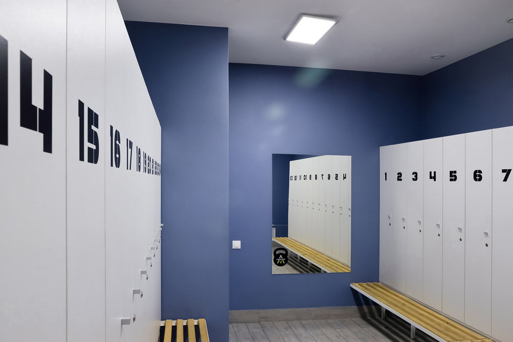 Acangard gym locker room