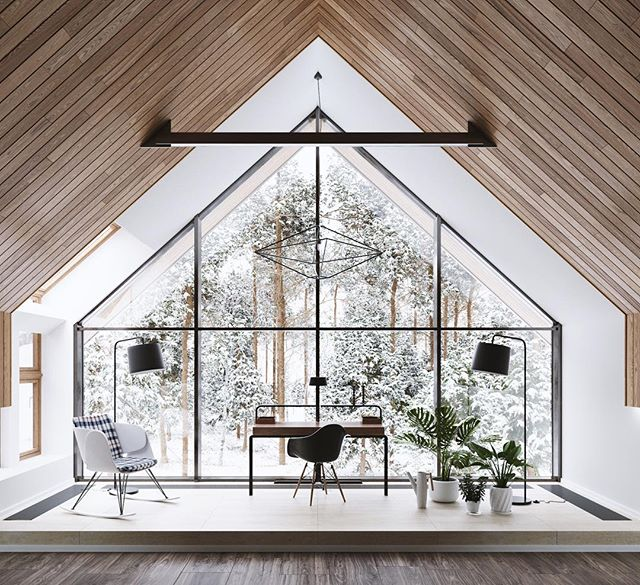 61Architects' Landform House, built with intimate viewing spaces to stop and admire its forest surroundings. #winterwonderland #architecture