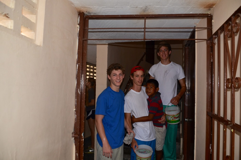 Will, Tyson and Chris painting