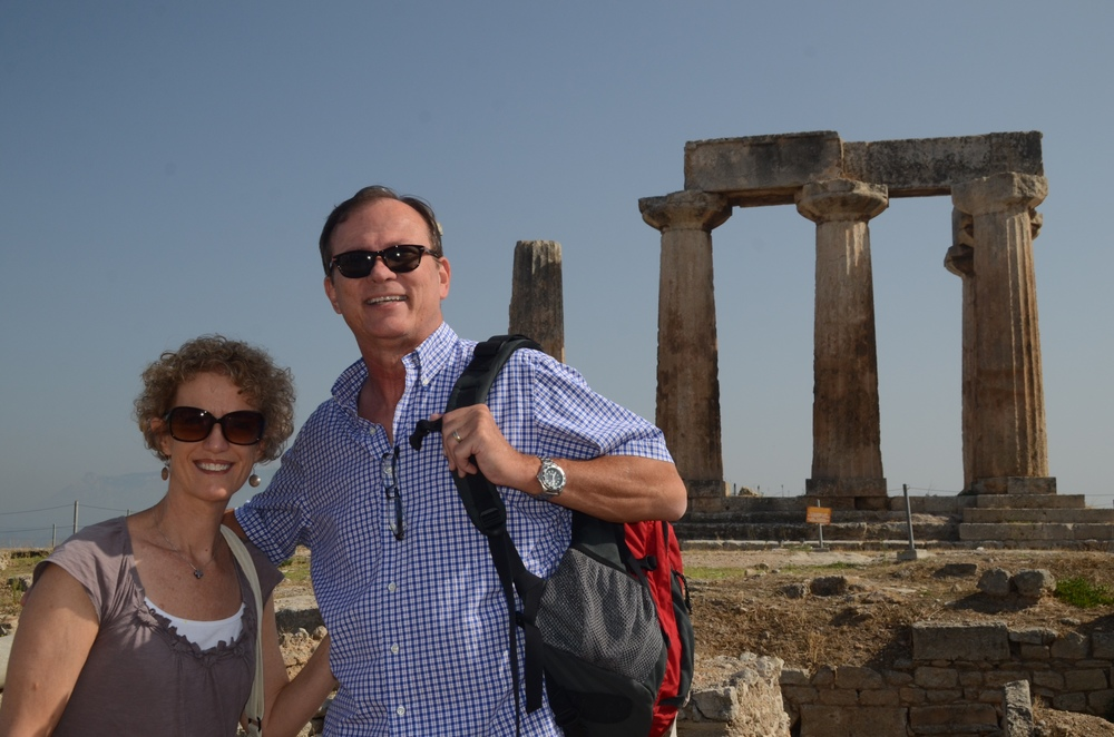 Larry and Mary Shingler in Greece