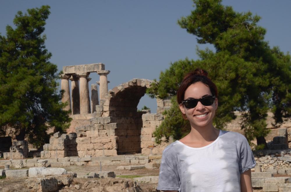 Gina Thompson touring Greece.